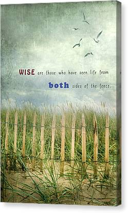 Both Sides Of The Fence Canvas Print