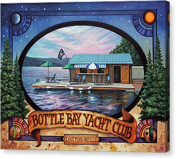 Bottle Bay Yacht Club Canvas Print