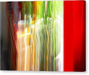 Canvas Print featuring the photograph Bottle By The Window by Susan Capuano