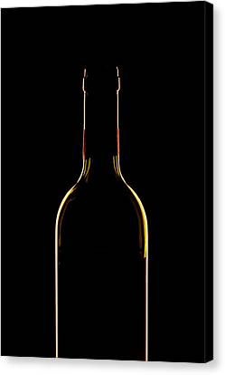 Bottle Of Wine Canvas Print by Andrew Soundarajan