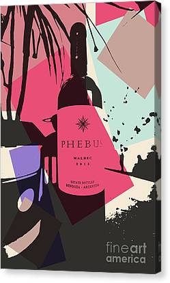 Bottle Of Wine Canvas Print by RJ Aguilar