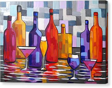Bottle Of Wine Canvas Print