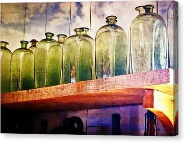 Bottle Row Canvas Print by Marty Koch