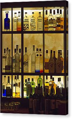Canvas Print featuring the photograph Bottle Works by Ron Dubin