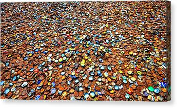 Bottlecap Alley Canvas Print by David Morefield