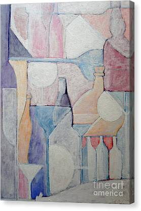 Bottles And Glasses Canvas Print by Ana Maria Edulescu