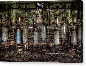 Bottles Hanging On The Wall  Canvas Print by Nathan Wright