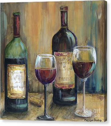 Bottles Of Red Canvas Print