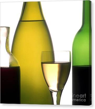 Nourishment Canvas Print - Bottles Of Variety Vine by Bernard Jaubert