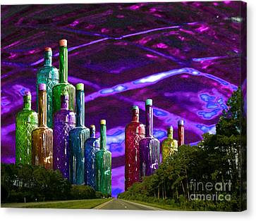 Bottlescape Canvas Print by Ayesha DeLorenzo