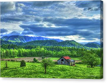 Smokey Mountains Canvas Print - Bottom Land Great Smoky Mountains Art by Reid Callaway