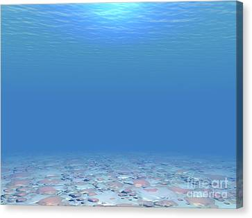 Canvas Print featuring the digital art Bottom Of The Sea by Phil Perkins