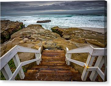 Bottom Of The Steps Canvas Print
