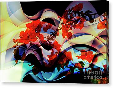 Canvas Print featuring the photograph Bougainvillea At Joe's Secret Garden IIi by Al Bourassa