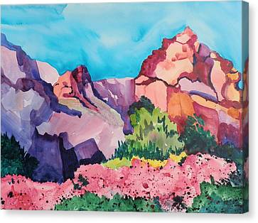 Bougainvillea In The Mountains Canvas Print