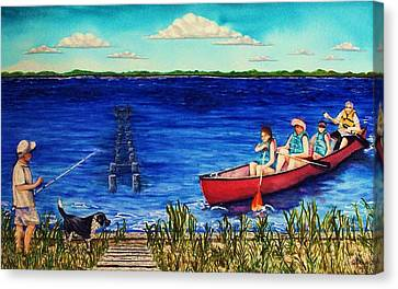 Bouge Sound Summer Outing Canvas Print by Jeanette Stewart