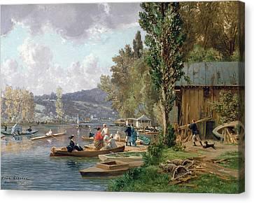 Bougival Canvas Print by Emile-Edme Laborne