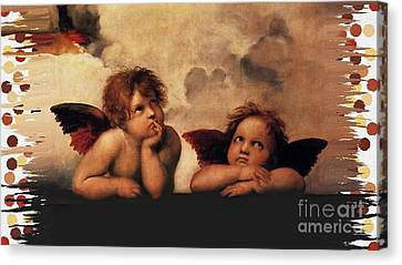 Canvas Print featuring the painting Bouguereau Painting Fresh Paint  by Catherine Lott