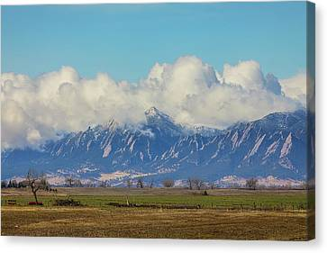Canvas Print featuring the photograph Boulder Colorado Front Range Cloud Pile On by James BO Insogna