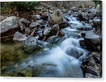 Boulder Creek Water Falling Canvas Print
