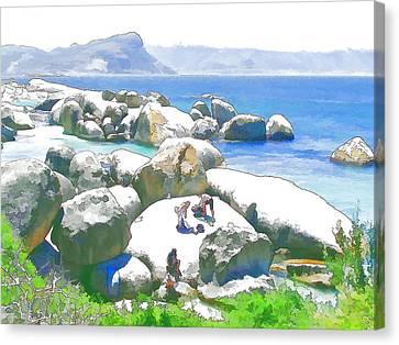 Boulders 3 Canvas Print by Jan Hattingh