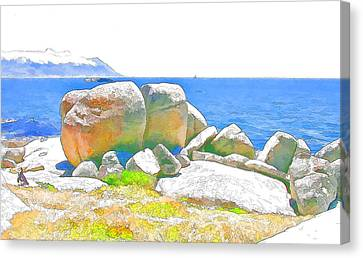 Boulders 4 Canvas Print by Jan Hattingh