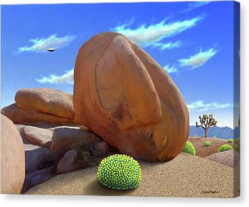 Boulders Canvas Print by Snake Jagger