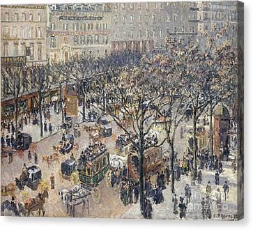 Boulevard Des Italiens Canvas Print by MotionAge Designs
