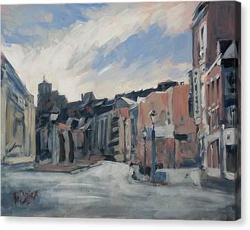 Boulevard La Sauveniere Liege Canvas Print by Nop Briex