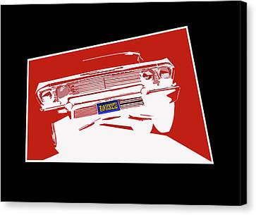 Bounce. '63 Impala Lowrider. Canvas Print by MOTORVATE STUDIO Colin Tresadern