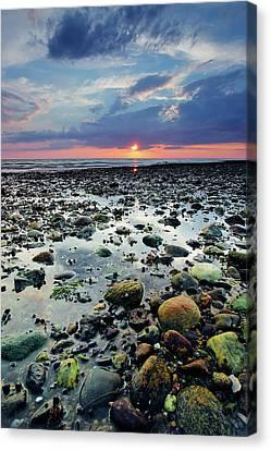 Bound Brook Sunset II Canvas Print by Rick Berk