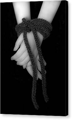 Bound Hands Canvas Print by Joana Kruse