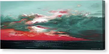 Bound Of Glory - Panoramic Sunset  Canvas Print by Gina De Gorna