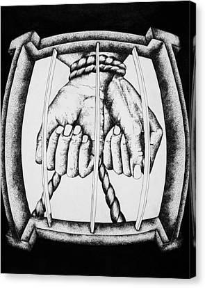 Bound Canvas Print by Omphemetse Olesitse