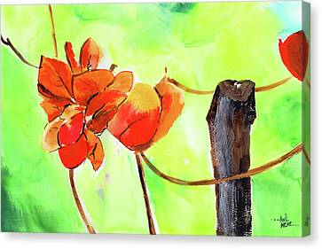 Canvas Print featuring the painting Bound Yet Free by Anil Nene