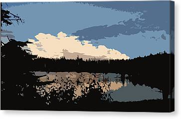 Boundary Waters Sky Canvas Print by Gabrielle Anderson