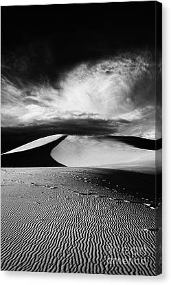 Coral Pink Sand Dunes Canvas Print - Boundless - Black And White by Hideaki Sakurai