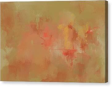 Bountiful Autumn Abstract Painting Canvas Print by Jai Johnson