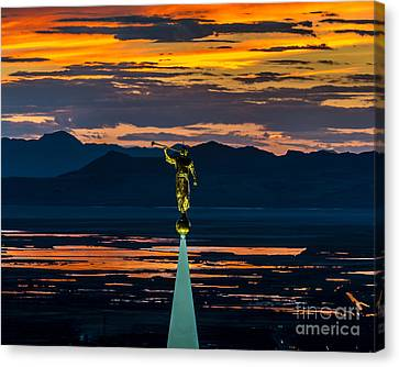 Bountiful Temple Sunset - Special Order Canvas Print