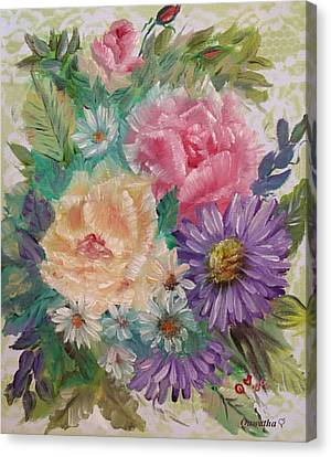 Canvas Print featuring the painting Bouquet 2 by Quwatha Valentine