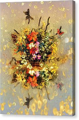 Canvas Print featuring the photograph Bouquet  by Gouzel -