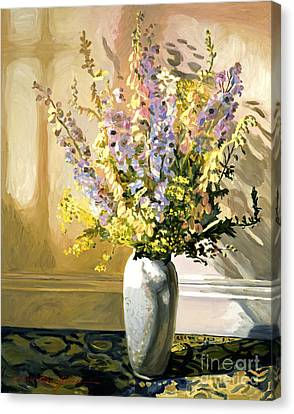 Bouquet Impressions Canvas Print by David Lloyd Glover