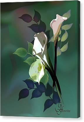 Bouquet In White Canvas Print by Regina Femrite