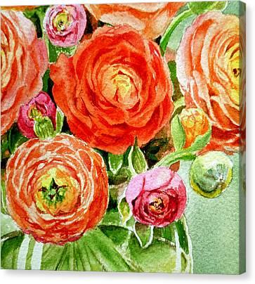 Ranunculus Bouquet Canvas Print by Irina Sztukowski