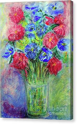 Canvas Print featuring the painting Bouquet by Jasna Dragun