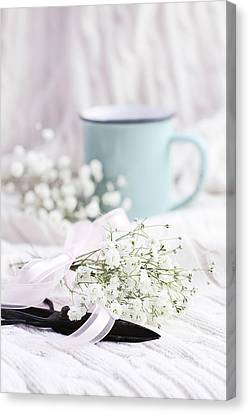 Canvas Print featuring the photograph Bouquet Of Baby's Breath by Stephanie Frey
