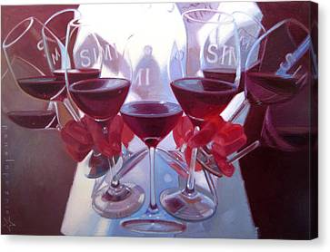 Wine Reflection Art Canvas Print - Bouquet Of Cabernet by Penelope Moore