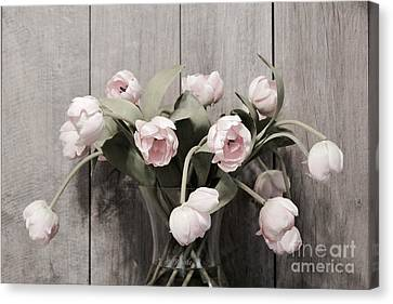 Bouquet Of Tulips Canvas Print by Jeannie Rhode
