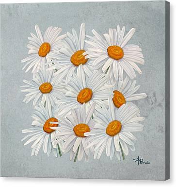 Bouquet Of White Daisies Canvas Print
