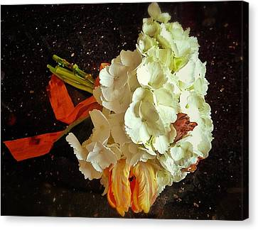 Bouquet Canvas Print by Olivier Calas